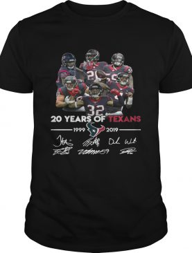 20 Years of Houston Texans 19992019 signature shirt