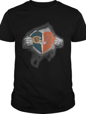 Bears Illinois Its in my heart inside me shirt