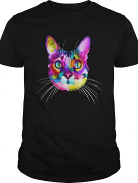 Colorful Cute Kitty Adoption Cat Shirt for kitten lovers TShirt