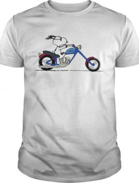 Cool Snoopy riding motorcycle Peanuts shirt