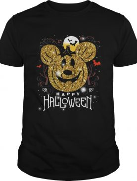 Mickey head happy halloween shirt