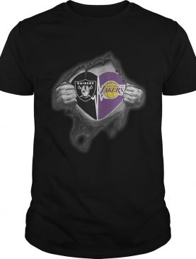 Raiders Lakers Its in my heart inside me shirt