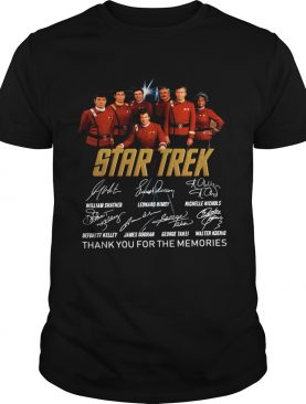 Star Trek signature thank you for the memories shirt