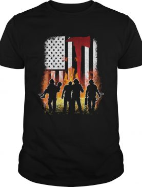 Thin Red Line Shirt Firefighter American Flag Axe TShirt