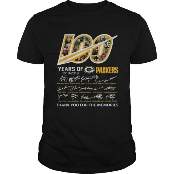 100 Years of Green Bay Packers 19192019 signatures  Unisex