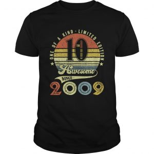 156837661710th Birthday Vintage Retro 10 years old boy girl kids Gift T-Shirt Unisex