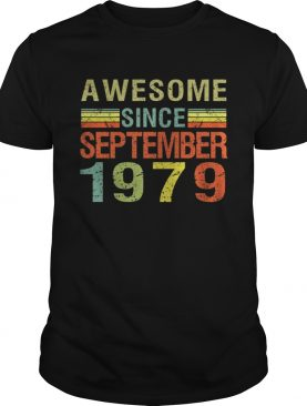 1569839855Born September 1979 Awesome 40 Bday Gift 40th Birthday T-Shirt