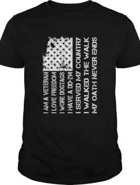 American Veteran Love Freedom Wore Dogtags Have A DD214 Proud Shirt