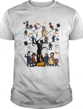 Horror character movie on the tree Halloween shirt