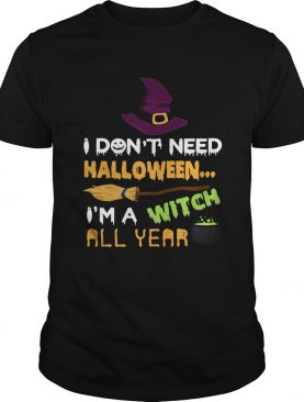 I dont need Halloween Im a witch all year shirt