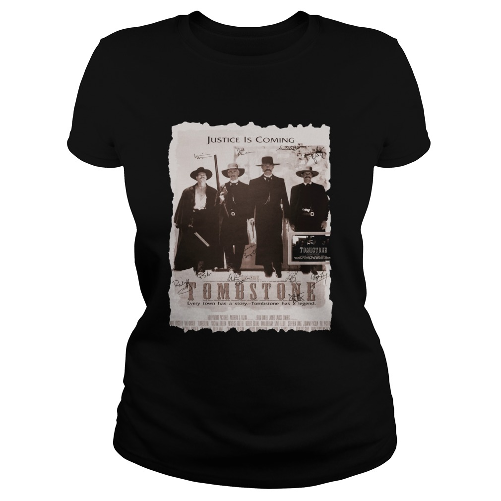 Justice is coming Tombstone Classic Ladies