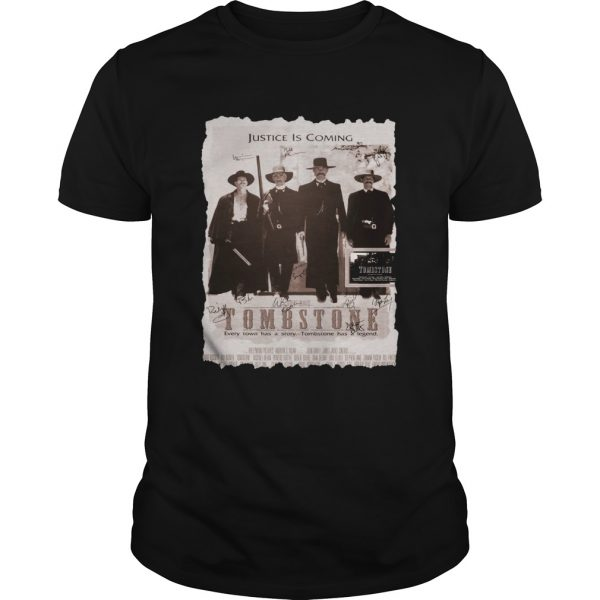 Justice is coming Tombstone  Unisex