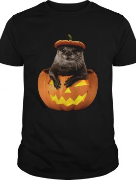 Otter in Pumpkin Halloween shirt