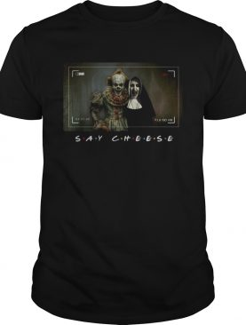 Pennywise and Valak say cheese photo shirt