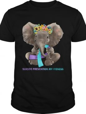 Suicide Prevention Awareness Elephant Tshirts