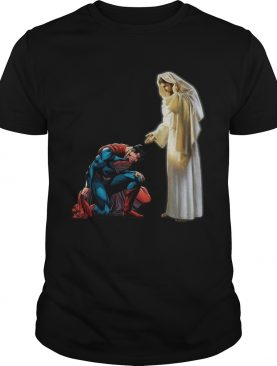 Superman end of head first Jesus shirt