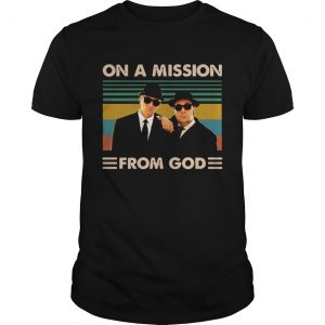 The Blues brothers on a mission from god vintage  Unisex