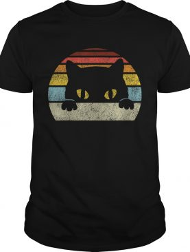 Vintage Black Cat Lover Retro Style Cats Gift TShirt