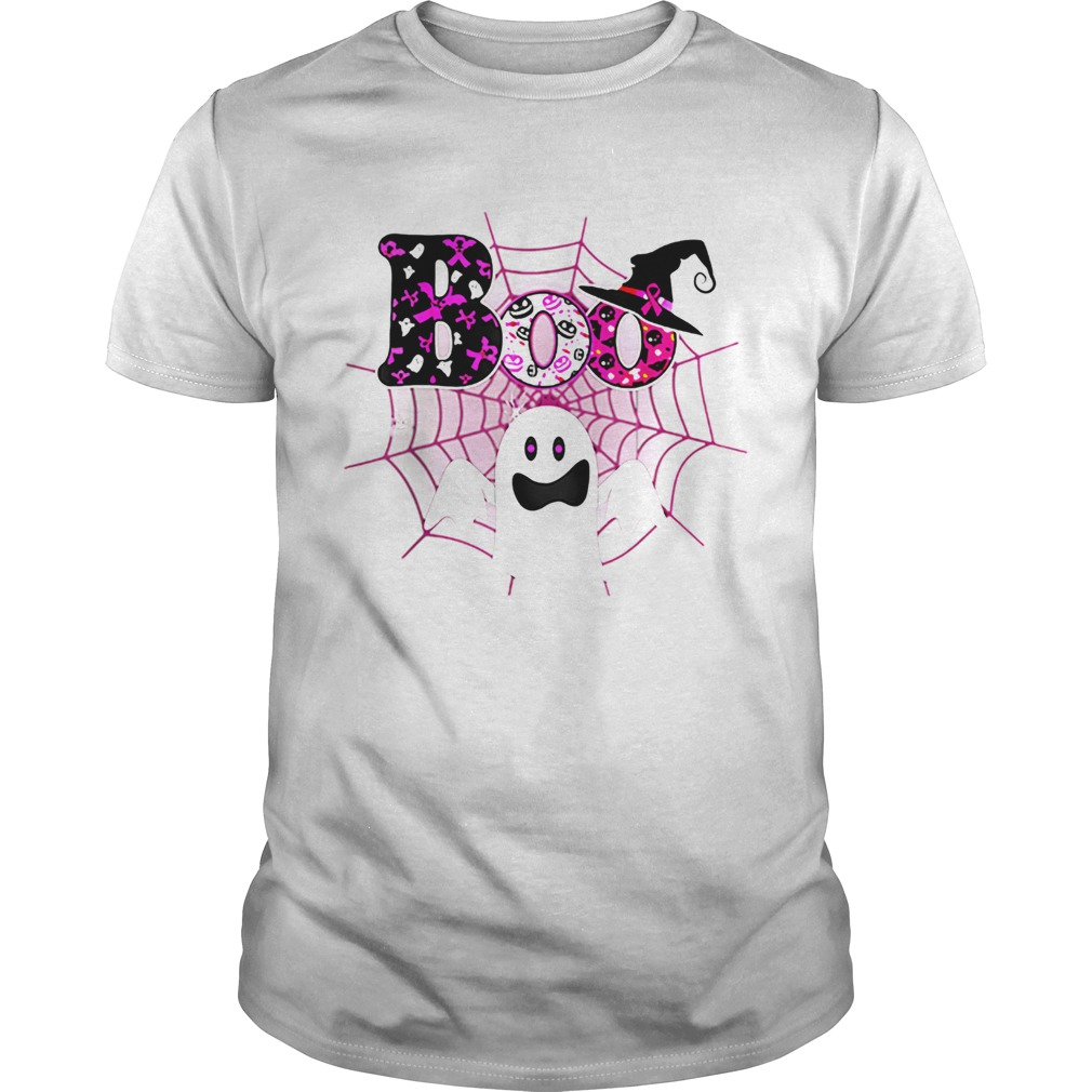 Boo Breast Cancer Awareness Ghost Halloween Ribbon  Unisex