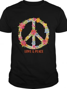 Flower Pattern Peace Symbol Shirt
