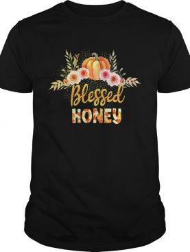 Halloween Pumpkin Blessed Honey Gift For Women Mom TShirt