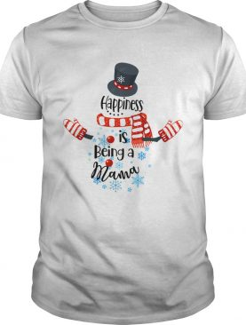 Happiness Is Being A Mama Snowman Xmas Matching Family TShirt