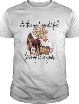 Horse its the most wonderful time of the year shirt