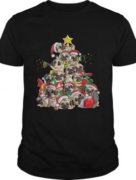 Merry Pugmas Xmas Tree Santa Boys Gifts TShirt