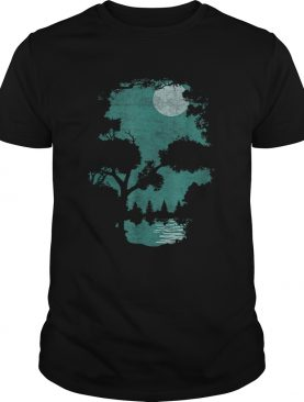 Nice Halloween Wilderness Skull illusion shirt