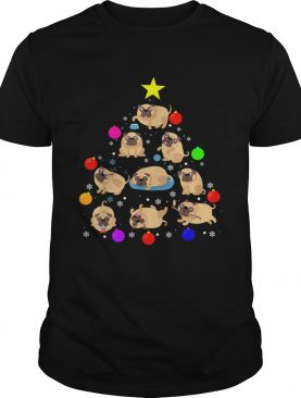 Pug Dog Christmas Tree T Shirt Ornament Decor Gift TShirt