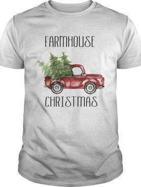 Red Truck Farmhouse Christmas ugly shirt