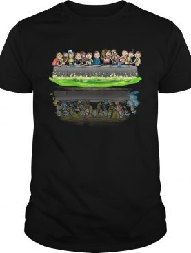 Rick and Morty Supper Last water reflection shirt