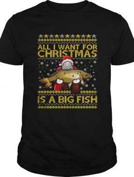 Santa Claus all I want for Christmas is a big fish sweater