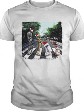 Santa Star Wars Characters Walking Road shirt