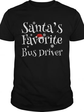 Santas Favorite Bus Driver shirt