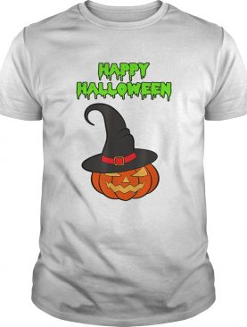 Scary Happy Halloween Pumpkin Witch Hat shirt
