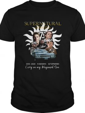 Supernatural Family dont end with blood carry on my Wayward Son shirt