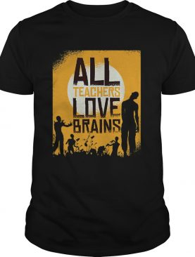 Teacher Loves Brains Zombie Hall Shirt
