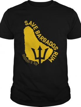 The Save Barbados Rum Slim Guardians of rum shirt