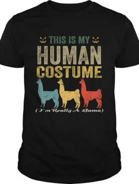 This Is My Human Costume Im Really A Llama Funny Halloween TShirt