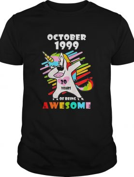Unicorn October 1999 20 years of being awesome shirt LlMlTED EDlTlON