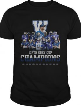 107th Grey Cup Blue Bombers Champions shirt