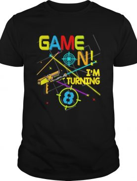 1574067229Laser Tag Birthday Party Game On Im Turning 8 shirt