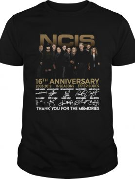 16th Anniversary 2003 2019 Signature Thank You For The Memories shirt