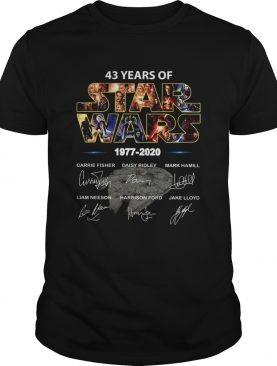 43 Years Of Star War 1977 2020 Signatures shirt