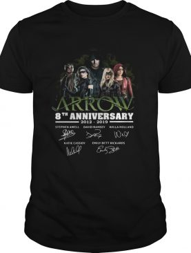 Arrow 8th Anniversary 20122019 Signatures shirt