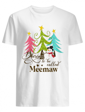Blessed To Be Called Meemaw Tree Snowman Christmas shirt
