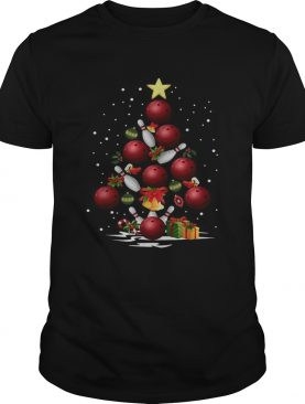Bowling Christmas tree shirt