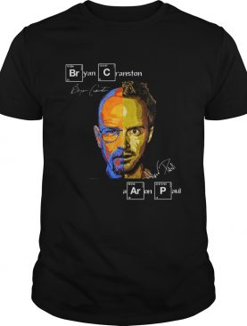 Bryan Cranston Aaron Paul signature Breaking Bad shirt