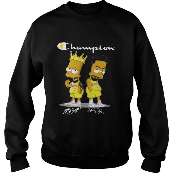Champion Lebron James Jersey Lakers The Simpsons Signatures  Sweatshirt